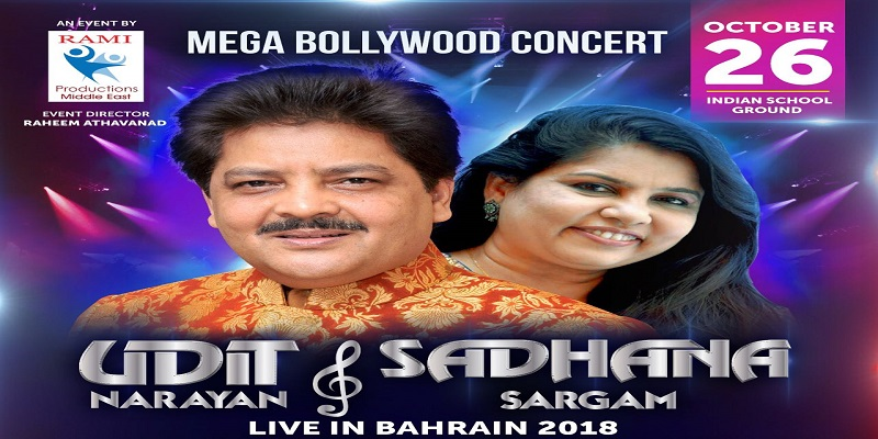 Udit Narayan And Sadhana Sargam Live In Bahrain 2018 Tickets